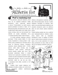 Alžbetin list 52